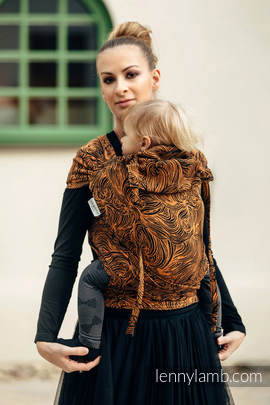 WRAP-TAI carrier Toddler with hood/ jacquard twill / 50% cotton, 50% linen) / GOLDEN RAPUNZEL
