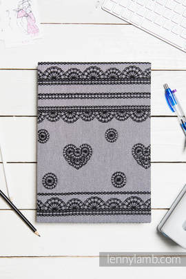 Calendar 2018 with jacquard fabric hard cover - size A4 - GLAMOROUS LACE REVERSE