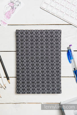 Calendar 2018 with jacquard fabric hard cover - size A4 - LITTLE LOVE - HARMONY