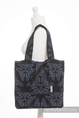 Shoulder bag made of wrap fabric (96% cotton, 4% metallised yarn) - QUEEN OF THE NIGHT - standard size 37cmx37cm