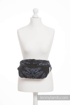 Waist Bag made of woven fabric, size large (96% cotton, 4% metallised yarn) - QUEEN OF THE NIGHT
