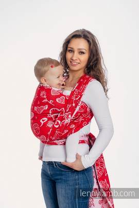 Baby Wrap, Jacquard Weave (100% cotton) - SWEET NOTHINGS - size L