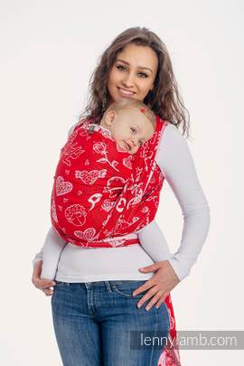 Baby Wrap, Jacquard Weave (100% cotton) - SWEET NOTHINGS - size XL