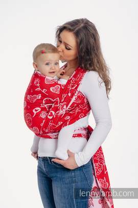 Baby Wrap, Jacquard Weave (100% cotton) - SWEET NOTHINGS - size XS