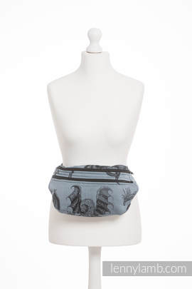 Waist Bag made of woven fabric, size large (100% cotton) - DRAGON STEEL BLUE (grade B)