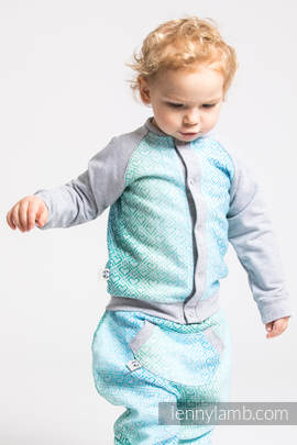 Children sweatshirt LennyBomber - size 62 - Big Love - Ice Mint & Grey