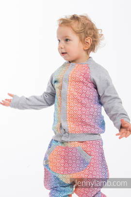 Children sweatshirt LennyBomber - size 62 - Big Love - Rainbow & Grey