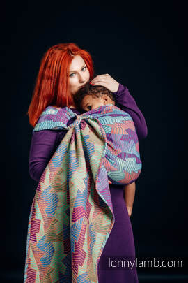 Ringsling, Jacquard Weave (27% combed cotton, 73% Merino wool) - PRISM
