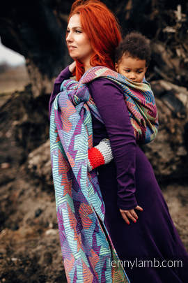 Baby Wrap, Jacquard Weave (27% combed cotton, 73% Merino wool) - PRISM - size XS