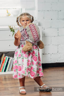 Doll Sling, Jacquard Weave, 100% cotton - GOOD VIBES