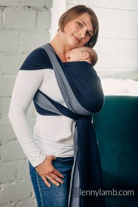 Basic Line Baby Sling - AZURITE, Broken Twill Weave, 100% cotton, size L