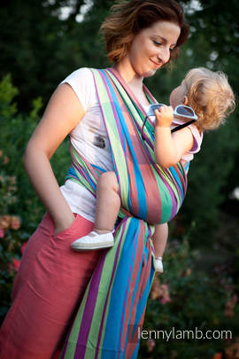 Baby Sling, Broken Twill Weave (100% Cotton) - ZUMBA BLUE - size XL