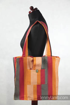 Shoulder bag made of wrap fabric (100% cotton) - Autumn - standard size 37cmx37cm
