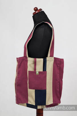 Shoulder bag (made of wrap fabric) - Tikanga - standard size 37cmx37cm (grade B)