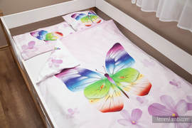 Baby Sheet Set - Butterflies (duvet cover 100x130cm, pillow 40x60cm,  little pillow40x40cm) (grade B)