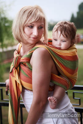 Baby Sling, Broken Twill Weave (bamboo + cotton) - Spring - size XL