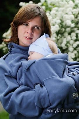 Fleece Babywearing Jacket - blue - size XL (grade B)