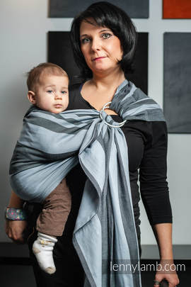 Ring Sling, Broken Twill Weave (bamboo + cotton) - Moon Rock (grade B)