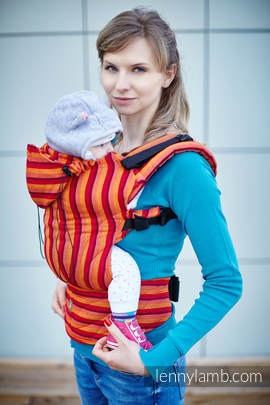 Ergonomic Carrier, Baby Size, diamond weave 100% cotton - wrap conversion from SOLEIL DIAMOND