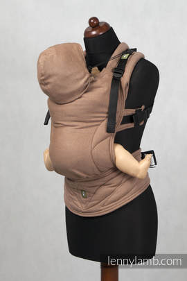 Ergonomic Carrier, Baby Size, diamond weave 100% cotton - wrap conversion from BROWN DIAMOND - Second Generation