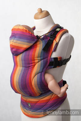 Ergonomic Carrier, Baby Size, broken-twill weave 100% cotton  - wrap conversion from SUNSET RAINBOW COTTON - Second Generation