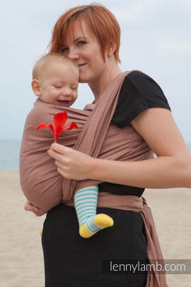 Baby Sling, Diamond Weave, 100% cotton - Brown Diamond - size XS
