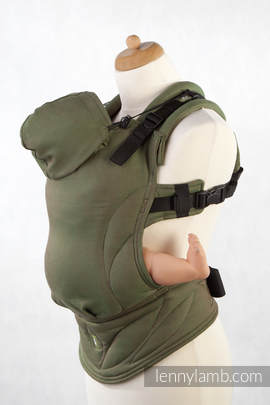 Ergonomic Carrier, Baby Size, diamond weave 100% cotton - wrap conversion from CAMO DIAMOND - Second Generation.