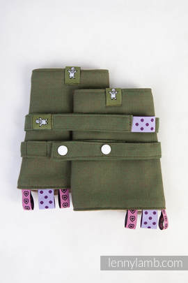 Drool Pads & Reach Straps Set, (100% cotton) - CAMO DIAMOND