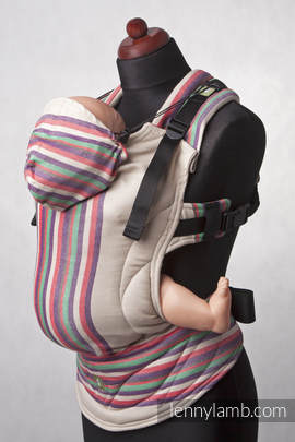 Ergonomic Carrier, Baby Size, broken-twill weave 100% cotton - wrap conversion from SAND VALLEY (grade B)