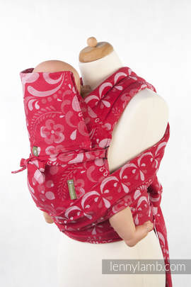 Mei Tai carrier Toddler with hood/ jacquard twill / 100% cotton / POWER OF LOVE