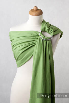 Ringsling, Diamond Weave (100% cotton), with gathered shoulder - Green Diamond (grade B)